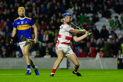Cork's goalkeeper Patrick Collins clears his lines