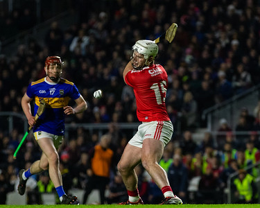 Cork's Patrick Horgan successfully lifts, strikes and scores a penalty for Cork