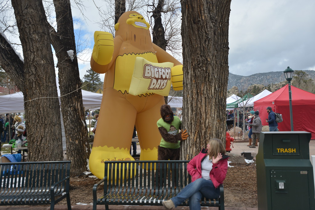. Bigfoot sneaks up on an unsuspecting guest.