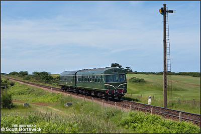 56062/51192 run alongside Sheringham golf course whilst working the 1200 Holt-Sheringham on 12/06/2014.