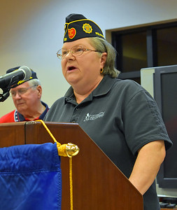 First Vice Commander Anita Bennett, widow of Craig Bennett
