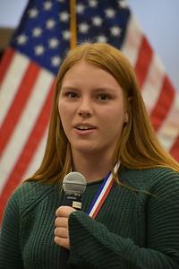 2017 Girs State Delegate & 2018 Oratorical runner up, Allison