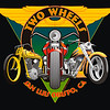 """Two Wheels for Harleys"" Design for T-shirt for motorcycle shop that specialized in all types of Harley Davidsons...very early digital work c. 1996"