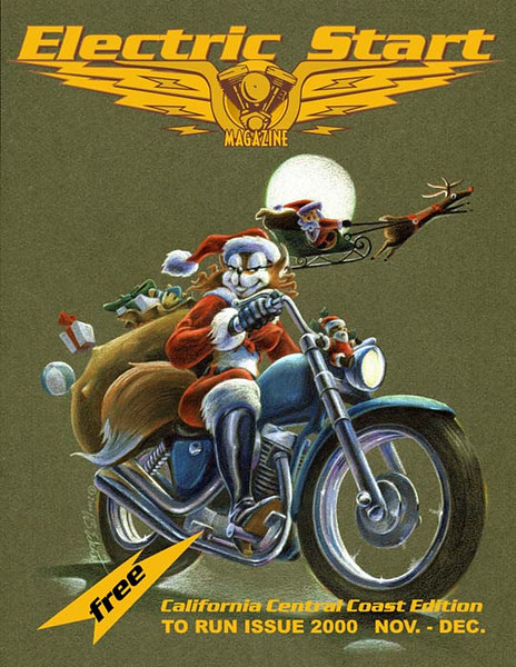 """""""Foxxxy: Santa's Helper"""" (Color pencils on Canson paper, cover for Electric Start magazine)"""