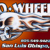 """Two Wheels San Luis Obispo"" T-shirt design. Prismacolor pencil drawing & brush and ink, digitally composited"