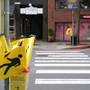 "In 1995, Kirkland, Wash., became the first U.S. city to implement a pedestrian flag program when it started PedFlag to reduce the number of pedestrian injuries and deaths. The program provides flags at more than 50 crosswalks throughout the city for pedestrians to carry as they cross the street, thereby increasing their visibility to cars. The City of Kirkland maintains the flags at downtown locations, and the other sites are maintained by citizen volunteers. <br /> <br /> In 2006, the PedFlag program received TE funds, under Category 2,  to develop, implement, and increase the use of pedestrian flags at crosswalks. The study resulted in a flag redesign, and strategies for program promotion and partnerships with local businesses. Federal Award: $60,000; Local Match: $0; Total: $60,000<br /> <br /> For more information about the PedFlag program, visit: <a href=""http://www.ci.kirkland.wa.us/depart/Public_Works/Transportation___Streets/Pedestrian_Flags_-_FAQs.htm"">http://www.ci.kirkland.wa.us/depart/Public_Works/Transportation___Streets/Pedestrian_Flags_-_FAQs.htm</a><br /> <br /> Check out this news story about the PedFlag program on YouTube: <a href=""http://www.youtube.com/watch?v=FAy4Bxo6FTg"">http://www.youtube.com/watch?v=FAy4Bxo6FTg</a><br /> <br /> Photo credit: City of Kirkland"