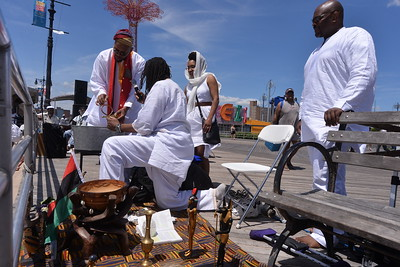 TRIBUTE  TO  OUR  ANCESTORS  OF  THE  MIDDLE  PASSAGE  2015   -     Coney  Island  Boardwalk,  Brooklyn  NY