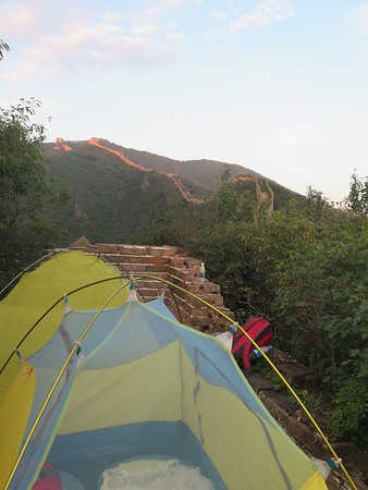 hiking at Jiankou Great wall in Beijing (August)
