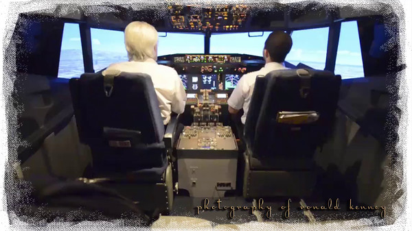 Flying into John Wayne from LAX in a sim with my flight Instructor....
