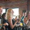 Ashleigh Fox | The Sheridan Press<br>From left, Devereaux Johnson, 20 Under 40 honoree Cassidy Drew and previous 20 Under 40 honoree Yvonne Swanson react to having Drew's name read at Black Tooth Brewing Company Monday, June 17, 2019. The Advocacy and Resource Center, where Drew and Swanson are both employees, earned a hat trick, having three of their staff members honored as 20 Under 40 picks.