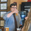 Ashleigh Fox | The Sheridan Press<br>Justin Stroup raises a glass to his fellow recipients of The Sheridan Press' 2019 20 Under 40 honor at the happy hour event at Black Tooth Brewing Company Monday, June 17, 2019.
