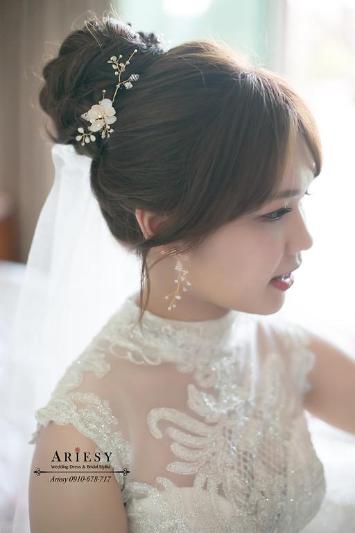 迎娶造型,愛瑞思,ARIESY新娘秘書,新秘,北部新娘秘書,白紗新娘造型