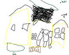 Daniel's drawing of kay street house(using a mouse to draw)