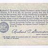 1944 - Geo W Ewing Mason Reg Card (2-Back)