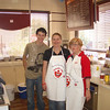 In the kitchen: Mel from the DA and 2AAA chairman Jean with Macca's senior manager