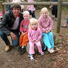 Mick and the grandkids: Harley, Madelyn, Lilyjana