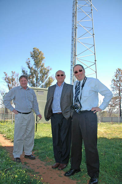 at Junee: Chris Jacobson, Greg Campbell, David Font