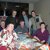 The winning team (standing) Rod Smith, Rod Edyvean and Luke Menz, (sitting) around the table from front left: Louise & Geoff Jacobson, Chris Jacobson and Di Menz