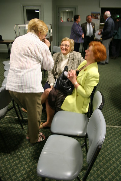 After the meeting the ladies share a joke!