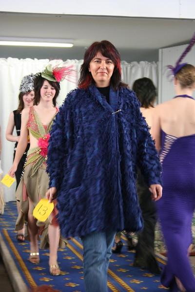 Model Petra Bowen with a beaut half length coat