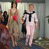 Designer Pam Stolhand and her winning design modelled by Anna McRorie