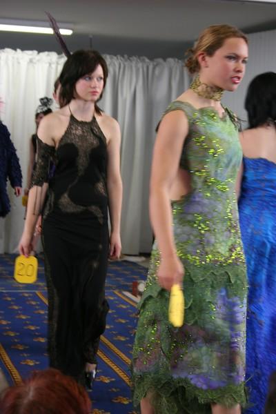 in black - Elise Krueger, in green Erika Hewitt
