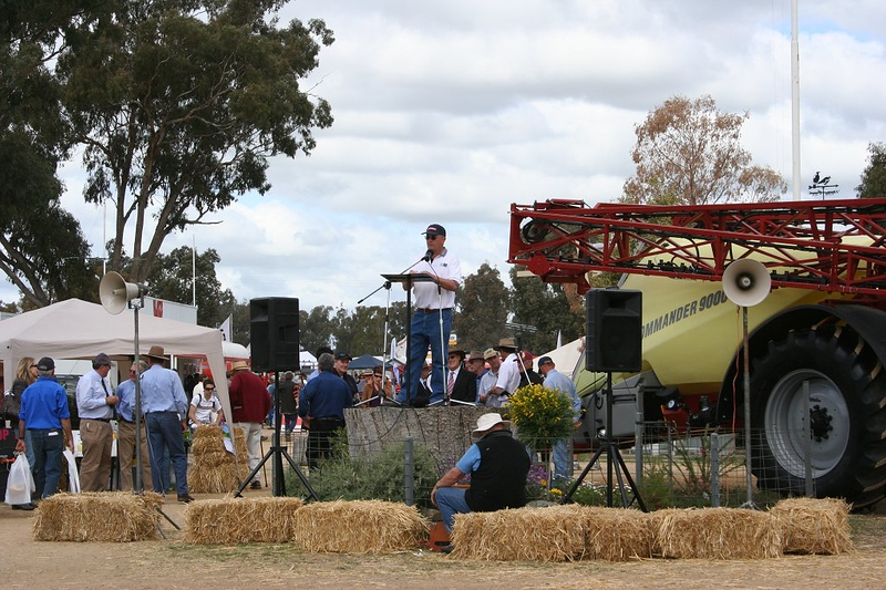 Former 2AAA board member Jim Booth is now MC of the Field Days