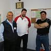 Councillor (and Board Member) Michael Georgiou, Rod Edyvean and visitor.