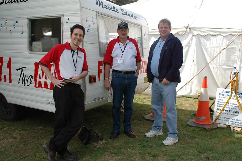 2AAA's David Deuis, Neil Begley and Geoff Jacobson