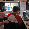 Technician Michael McFeeters and presenter Leigh Ryan check that all's working