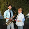 Jean Haste with winner of the 2007 2AAA Jazz Junction Youth Encouragement Award, Bernard Lagana
