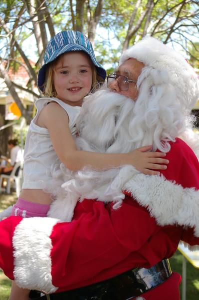 Emma loved to meet Santa