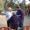 Nancye explaining to Rod how the donation was organised