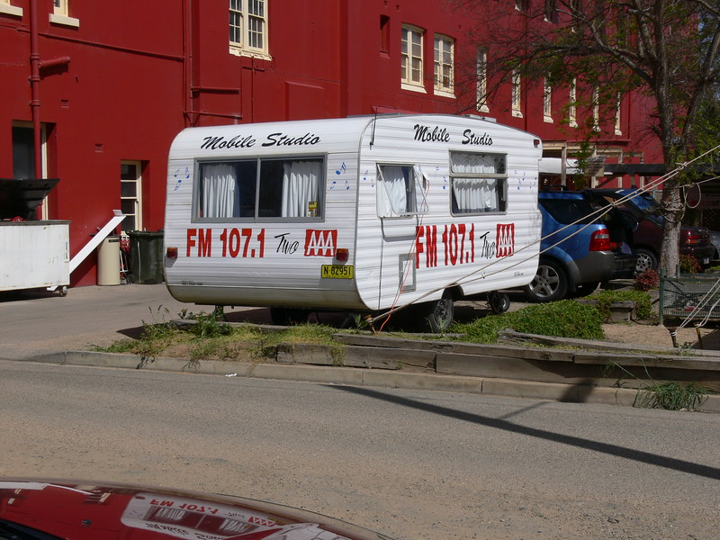 Our Outside Broadcast caravan looking clean and shiny! Thanks to John Griffin who took this pic.