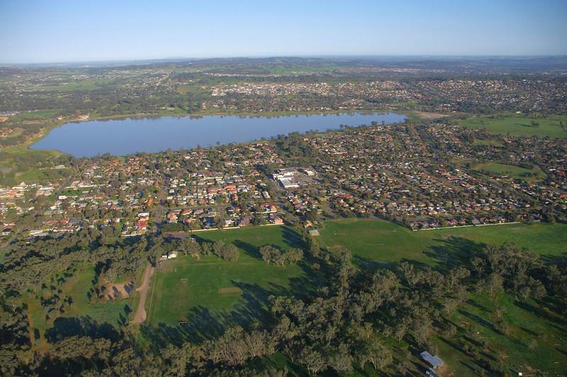 Flying over Lakeside