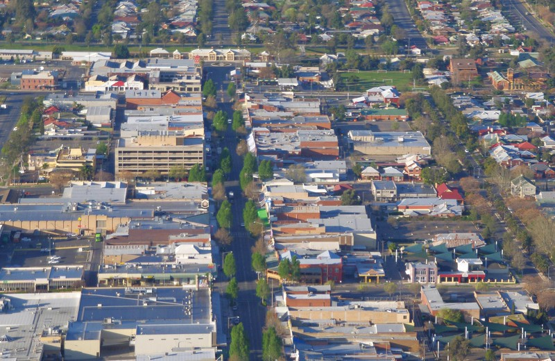Looking down Baylis Street