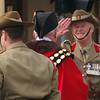 Wagga's mayor, Kerry Pascoe arrives at the cermony