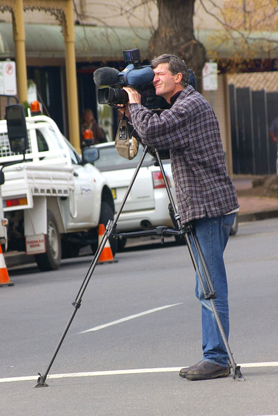 Peter from Prime TV getting some footage for the news...