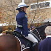 This lady brought her horse to watch the parade. :)