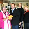 Presentation of cheque to Lorraine Harris (Wagga Wagga Breast Cancer Support Group) Officer Commanding, Australian Army Band Kapooka, Major Jeff Cocks, Cpl. Simone Dew  (Band Member), Jean Haste (2AAAFM)