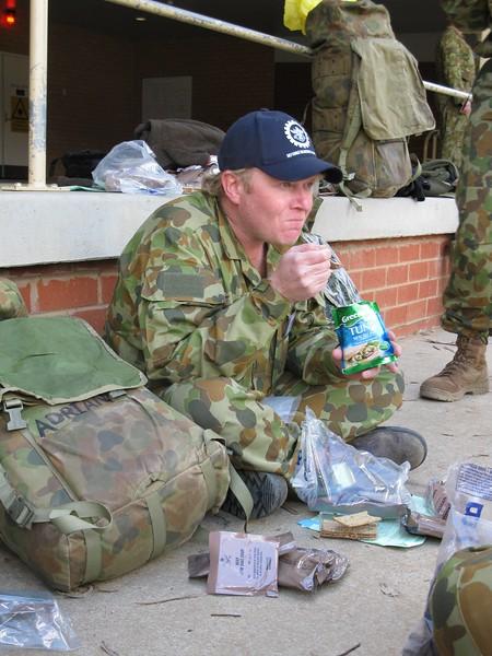 Adrian enjoying a snack
