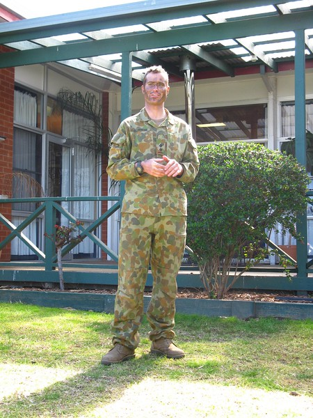 Platoon boss Brendon Dowell thanks everyone for attending...
