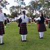 The combined Pipes and Drums sounded great even when they were just warming up!