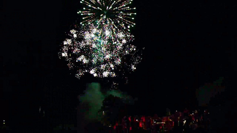 The fireworks topped off a great day - and night.