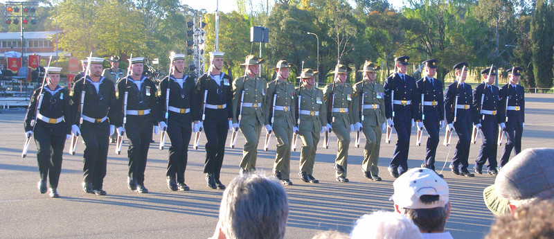 Australia's Federation Guard put on a great drill display
