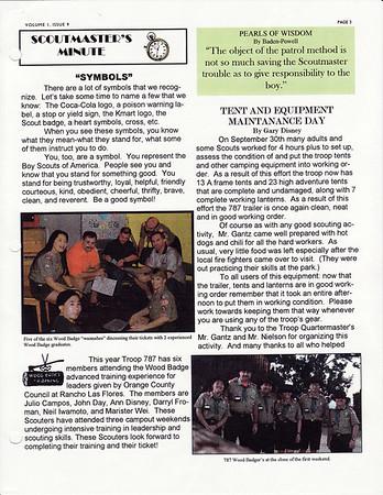 October 2000 Troop Talk - Volume 1, Issue 10