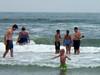 ian john julia in water
