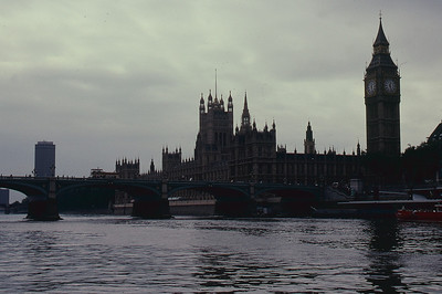 Big Ben from the Thames River, London