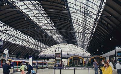 Rail station on way to Edinburgh