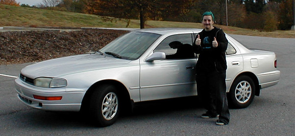 Blue-haired Dan with his new '92 Camry